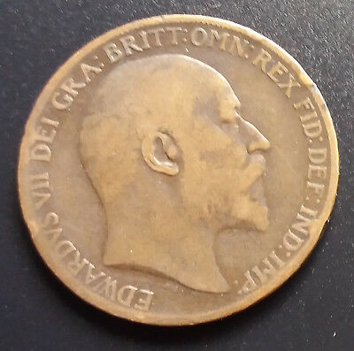 1910 Edward VII One Penny Coin - Great Condition