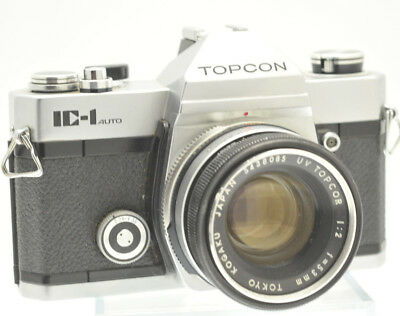 VINTAGE TOPCON IC-1 Auto 35mm SLR with UV TOPCOR 53mm F2 Lens - MADE IN JAPAN
