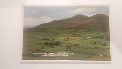 The Mourne Mountains from Bunker's Hill - postcard