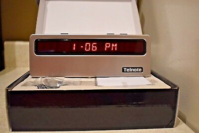 New!!! Telnote Tl-1215 Large Screen Caller Id And Clock Bright Red Led Display