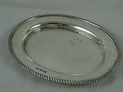 SOLID silver CARD TRAY, 1901, 178gm