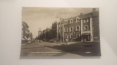 High Street and Tower Hotel Hawick - postcard