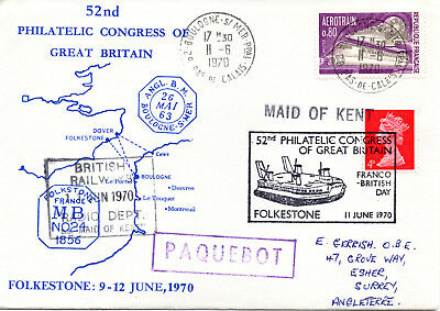 Great Britain 1970 52nd Philatelic Congress of Great Britain cover with cachets