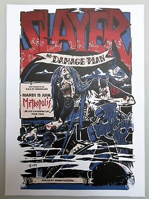 Slayer & Damage Plan Mini-Concert Poster Reprint Artwork Metropolis