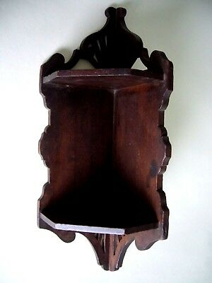 Victorian Wooden Hanging Corner Shelf Bracket