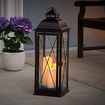 Smart Living  Salerno 27-Inch Triple LED Candle Lantern Battery Powered By Th...