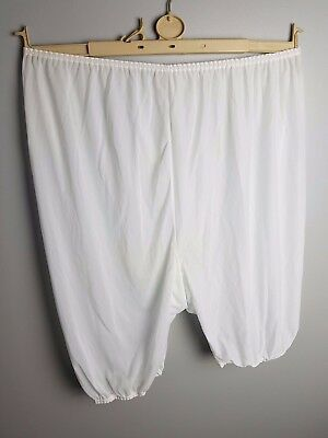 Vintage New White Sexy See Through Bloomers Size 48 - 50