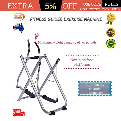 New Fitness Glider Exercise Machine Elliptical Sports Trainer comfort stability