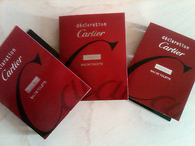 1.5 ml Cartier DECLARATION ESSENCE Eau de Toilette Spray x 3