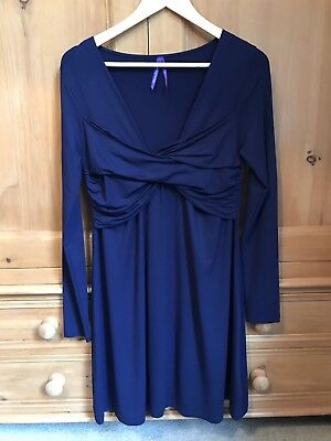 Seraphine Maternity / Nursing Dress - Royal Blue - Size 10 - Brand New!