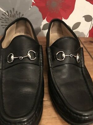 Men's Designer Vintage Gucci Black Shoes Size 7