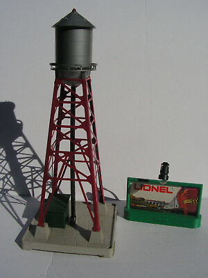 Lionel No. 193 Water Tower & No 410 Blinking Light Billboard Assembly Ex+