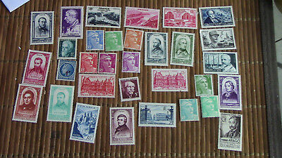 France Lot 30 Timbres 1948 Complet N° 793 à 822 Neuf**