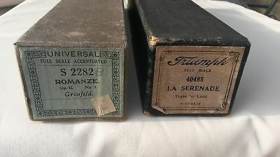 Pianola music rolls La Serenade & Romanze
