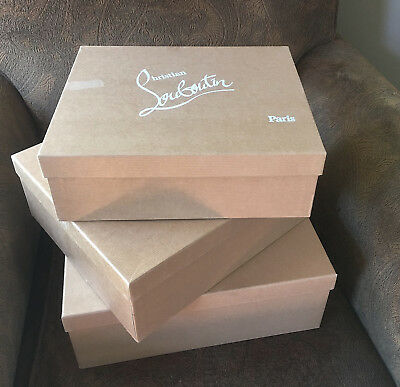Christian Louboutin LOT 3 Empty Shoe Boxes Replacement Box Gift Authentic