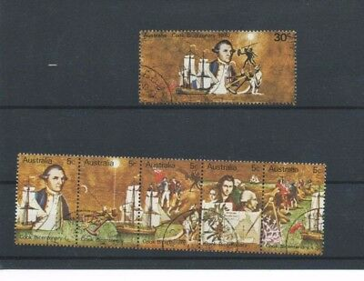 Australia 1970 captain cook bicentenary set used SG459 - SG464