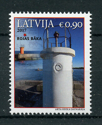 Latvia 2017 MNH Roja Lighthouse 1v Set Lighthouses Architecture Stamps
