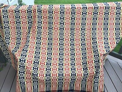 Early Antique 1800's Floral Coverlet Lancaster Pa