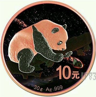 2016 30 Grams Chinese FUKANG Panda Atlas of Meteorites Silver Coin..