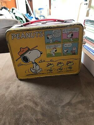 Peanuts, Snoopy Lunch Box With Thermos.