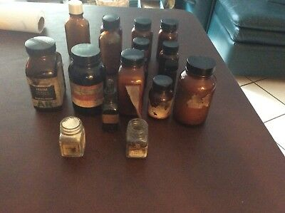Lot Of Vintage Chemestry Bottles Mad Scientist Lab Halloween