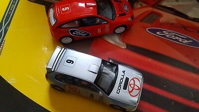 scalextric Ford focus and toyota corolla rally cars