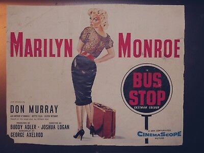 Advertisement (small poster) for BUS STOP, Marilyn Monroe, British release, 1956