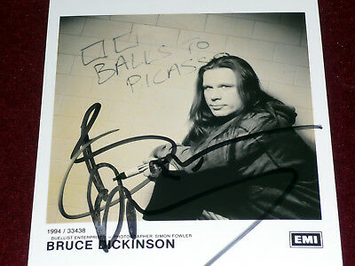 BRUCE DICKINSON signed picture Iron Maiden Balls To Picasso autographed