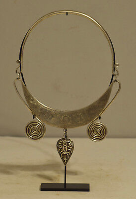 Chinese Miao Necklace Silver Collar Scorpion Pendant Silver Collar Hill Tribe