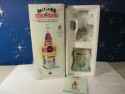 Dept 56 NEWSSTAND DAILY 140 St Charles  Monopoly Citylights   #13602  (1016SH)