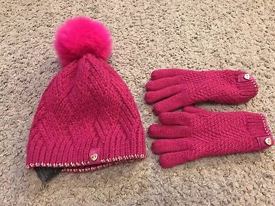 Ted Baker Girls Hat And Glove Set Age 7/10