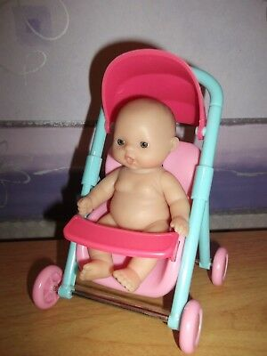 ELC ? berenguer doll and pushchair. Good condition