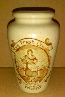 Wigtownshire CREAM POT Jug Pottery early 1900's ANTIQUE Rare Vintage STONEWARE