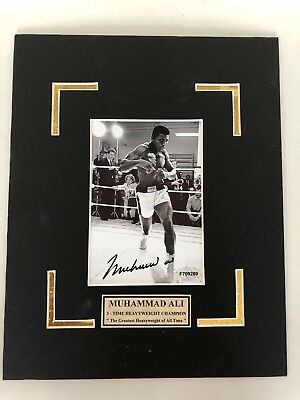 Muhammed Ali  Autographed  4x6 Photo. In A 8x10 Mat.......Certified.