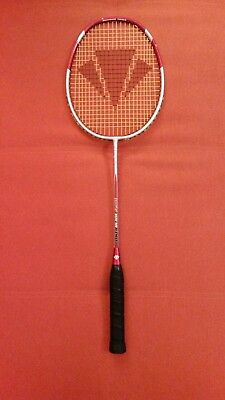 Badminton Racket, Carlton Powerblade Flare weight 100-110g red and silver