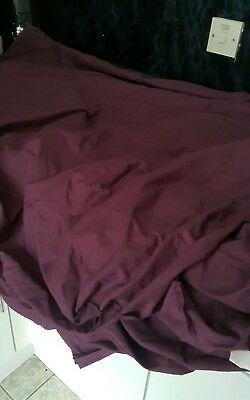 double deep plum fitted sheet