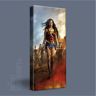 WONDER WOMAN SPECTACULAR GAL GADOT ICONIC CANVAS ART PRINT PICTURE Art Williams3