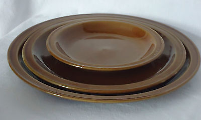 Vintage Pearson's of Chesterfield Pottery England Dinner, Lunch, & Side Plates