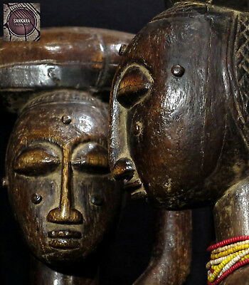 Outstanding Old Pair of Male Female Figures - ANYI-AGNI  - Ivory Coast