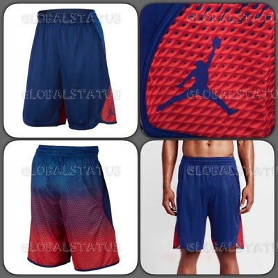 Nike Mens Air Jordan Flight Victory Royal Blue Red Shorts 800911 455 Size 3Xl