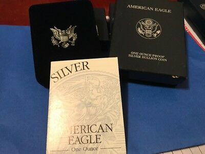 1999 American Eagle Silver Proof Box And COA Only! No Coin