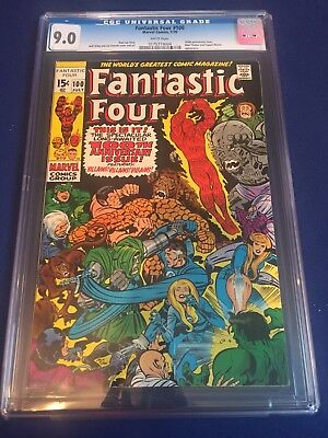 FANTASTIC FOUR #100 CGC 9.0 WHITE PAGES 100th Anniversary Issue!