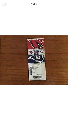 LA Rams v Arizona Cardinals   2017 NFL used Ticket ( London)