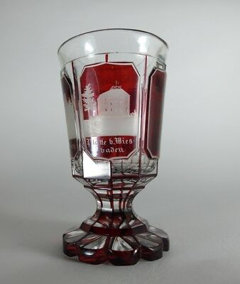 ansichten- Mug Glass Stained, Wiesbaden, UM 1850- 1870 AL90