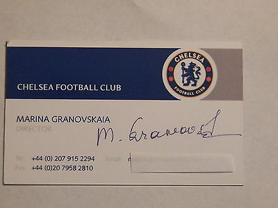 Marina Granovskaia - CHELSEA FC (UK) Director - Autographed Business Card