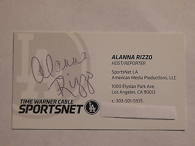 Alanna Rizzo - SPORTSNET LA Host/Reporter - Autographed Business Card