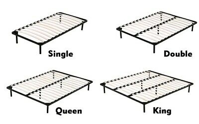 Metal Bed Frame Single King Single Double Queen King  Wooden Slat Bed Base