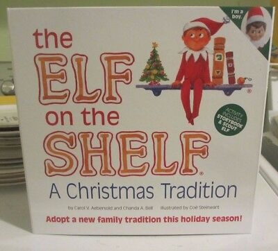 The Elf on the Shelf~a Christmas Tradition~~boy Elf doll & book set~~NEW IN BOX