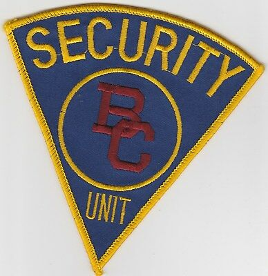 vintage Boston College, Massachusetts Security Unit patch  MA   BC Campus Police