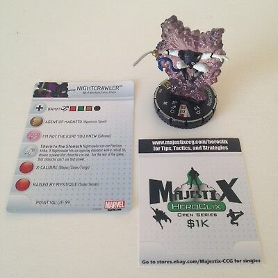 Heroclix Wolverine and the X-Men set Nightcrawler #102 LE figure w/card!